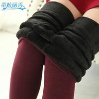 Women's plus velvet Leggings 380g Winter Warm Pants Women clothing Tights Legging Russia