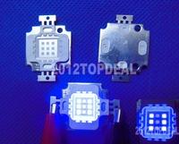 10W Actinic Hybrid Royal blue 440-445mm+UV 395-400 high power led light bulb Free Shipping