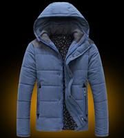 Hot sale free shipping men winter jacket fashion hooded down coat leisure wear outwear 6 COLORS M-XXL CW11