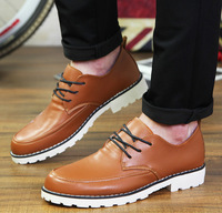 Fashion men casual shoes leather sneakers for men shoes British men boots fashion sports casual shoes Free shipping