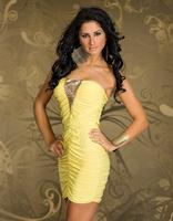 2014 Hot Nightclub Slim Sexy Nightclub Dresses Plus size Lingerie XXL gold club night club  women Lingerie