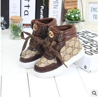 Free shippingchildren's baby shoes, baby boys and girls thick cotton-padded shoes winter warm shoes 26-30 yards  029
