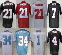 Throwback Football Jersey,34 Earl Campbell 1 Warren 4 Favre 21 Deion Sanders #7 Vick Jersey Authentics cheap sports Jersey