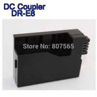 10 pcs DR-E8 DC coupler for Canon EOS 550D 600D 650D 700D Rebel T2i T3i T4i Kiss X4 X5 X6i adapter ACK-E8