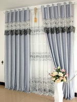 Wedding embroidery lace stitching cottage curtains, white, yellow, pink and purple ash