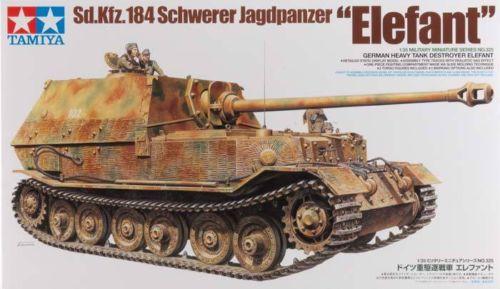 Tamiya 1/35 35325 Sd.kfz.184 Schwerer Jagdpanzer Elefant Plastic Model Kit Free Shipping(China (Mainland))