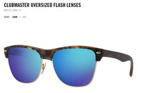 Free Shipping Clubmaster Oversized  Flash Glass Lens sunglasses high quality RB4175 6092 /17 6092 /19  6092 /69 Unisex sunglass