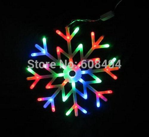 40led Snowflakes LED fairy String Light snow flake rope light motif Christmas Xmas tree Light Bracket decoration 220V-multicolor(China (Mainland))