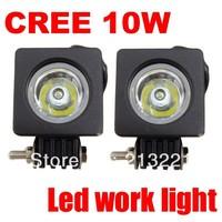 2x 10W CREE Led off road light bars OFFROAD CAR TRUCK BOAT ATV 4X4 4WD Vehicle LED WORK LIGHT 12v-24v Daylight Free shipping