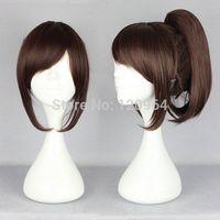 NewAttack on Titan Sasha Blouse Red-Brown Ponytail Cosplay Wig Natural Kanekalon no Lace Front hair wigs Free deliver