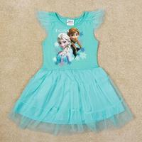 Frozen dress for girl Nova New arrival Princess Elsa & Anna frozen party dress Summer girls lovely tutu dress H5341Y