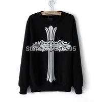 Freeship 4LY98 O-Neck 2014 New Women Sweatshirts Long Sleeve Winter Totem Print Brand Female Sweatshirts Pullovers Hoodies