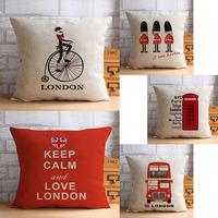 British style European Pastoral linen cotton pillow Car Cushion Office the lumbar pad  Sofa cushion pillow free shipping /w730