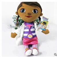free EMS 20/lot 33cm=13inch Doc Mcstuffins Clinic Plush Toy Stuffed Doctor Girl plush doll Wholesale