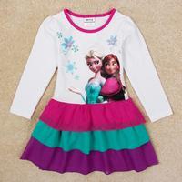 nova kid frozen elsa dress anna girl dress vestidos infantis all for children's clothing and accessories H5392Y