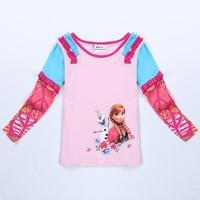 children clothing girls t shirt nova brand kids wear novelty frozen clothes spring/autumn long sleeve t shirts for girls F5370DY