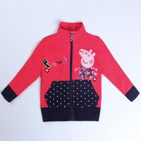 Girls Coat Children's Winter Outwear Girls Winter Coats kids Jacket Peppa Pig Baby Girl Clothing Lovely Hot Brand Nova  F5373D