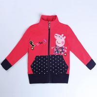 Girls Coat Children's Winter Outwear Girls Winter Coats kids Jacket Peppa Pig Baby Girl Clothing Lovely Hot Brand Nova  F5373D