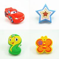 Children protection cartoon soft plastic children furniture handles kids bedroom dresser knobs drawer pulls for Girls Boys room