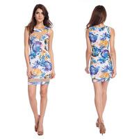 ebay Amazon explosion models series sexy fashion mesh gauze dress stitching nightclub dress