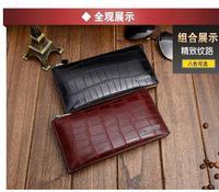 new fashion men's day clutch genuine leather business multifunction wallet for men  handbag
