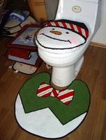 S&V The bathroom two-piece toilet Christmas snowman bathroom carpets toilet seat cover set HD0211