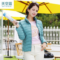 2014 thin down coat female short design elegant slim all-match outerwear Women's duck down jacket Winter essential