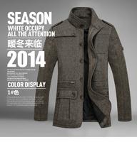 2014 New European Size Men Fashion Jacket Wool Brand Men's Jacket Casual Coat Men Clothes Jackets Outdoor Coat Men Overcoat