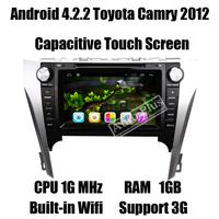 Glonass Android 4.2.2 Car DVD GPS for Toyota Camry 2012 Autoradio+CPU 1GHz+RAM 1GB+ROM 8GB+3G Wifi Host+Dual Zone+iPod function