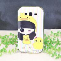 Little Bush Beautiful Girl Duck Cartoon Tpu Hard Cover Back Phone Case For Samsung Galaxy Grand Duos i9082