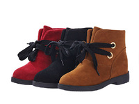 B5006, Brief boots british style lacing round toe flat heel flat scrub boots martin boots