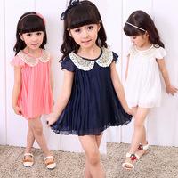 Free shipping Hot ! baby girl short sleeves dress baby kids clothes girls princess dress baby cute skirt kids dresses skirts