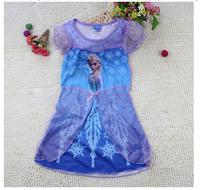 Special offer,1PCS Frozen Dress Elsa & Anna Summer Dress For Girl 2014 New Princess Dresses Brand Girls Dress Children Clothing