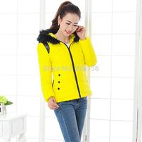 winter short design PU cotton padded jacket Plus Overcoat winter thickening outerwear L,XL
