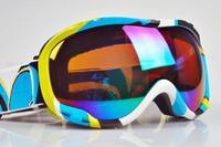 New arrival 2014 Skiing Eyewear Ski Glasses Goggles Color lens Snowboard Goggles Men Women Snow Glasses Fashion skiing eyewears