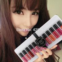 (12 pcs/set) 3ce different colors lipstick women's lipgloss new Lip Gloss  maquiagem lips makeup