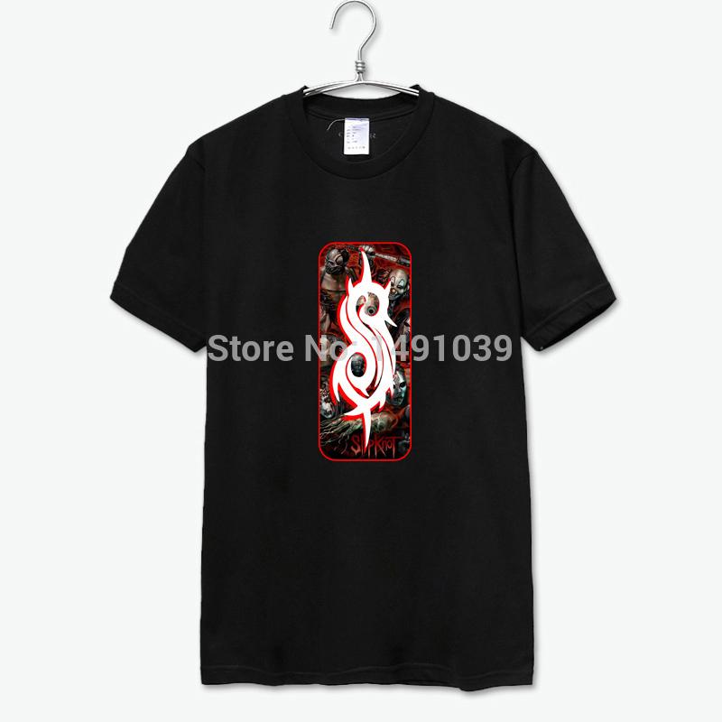 slipknot metal moda estilo escuro sreetwear skatebord t camisa clássica patch logo homens e mulheres todos podem usar(China (Mainland))