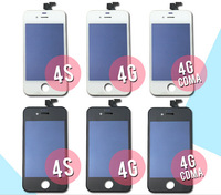 20PCS/LOT LCD For iPhone 4G 4S Screen Assembly Display Replacement Mix Color Wholesale Free Shipping Via DHL