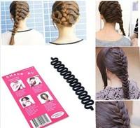 6PCS New Women Lady Fashion Hair Braiding Braider Tool Roller Magic hair Twist Styling Bun Maker