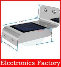 1w 16 Led Solar Power Outdoor Wall Lamp Sound Activated Garden Yard Sensor Path Light Energy-saving New(China (Mainland))