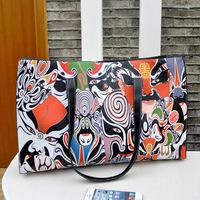 2014 new fashion super cute Peking Opera National Wind handbag shopping bag retro large bags