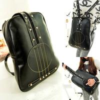 2014 Hot Sale Men Women Designer Violin Leather Backpack Camping Hiking Shoulder Bag Vintage Travel Bags Children School Bag
