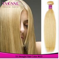 Grade 5A Straight Peruvian Blonde Hair,100% Human Hair,3Pcs/lot Aliexpress Yvonne Hair Products,Color 613 Hair