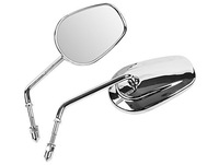 Motorcycle Bike Chrome Rear View Left & Right Side Silver Racing View Mirrors Fit For HARLEY DAVIDSON XL1200L SPORTSTER XL1200C