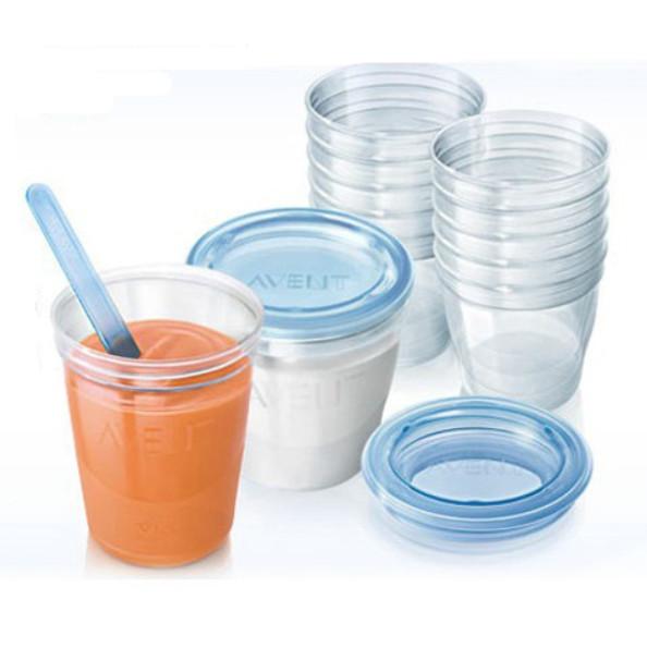 3 частей AVENT 240 мл 180 мл BPA Via бутылка хранения грудного молока младенцы подачи еда ёмкость чашки контейнеры