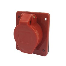 AC 380V-415V 16A 3P+E IEC309-2 Panel Mount Industrial Socket Red Electrical Plug Parts Accessory