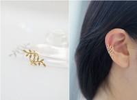 Leaves No Pierced Ear Clip Ear Jewelry Brinco Bijoux Leaf  Allergy Bride Earring Ear Cuff Pendientes Jewelry For Women Christmas