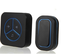 Intelligent Wireless Doorbell Dome DC Remote Electronic Old Pager Battery Black Color Music Doorbell D39