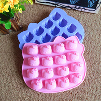 Kitty cats fondant cake molds soap chocolate mould for the kitchen baking