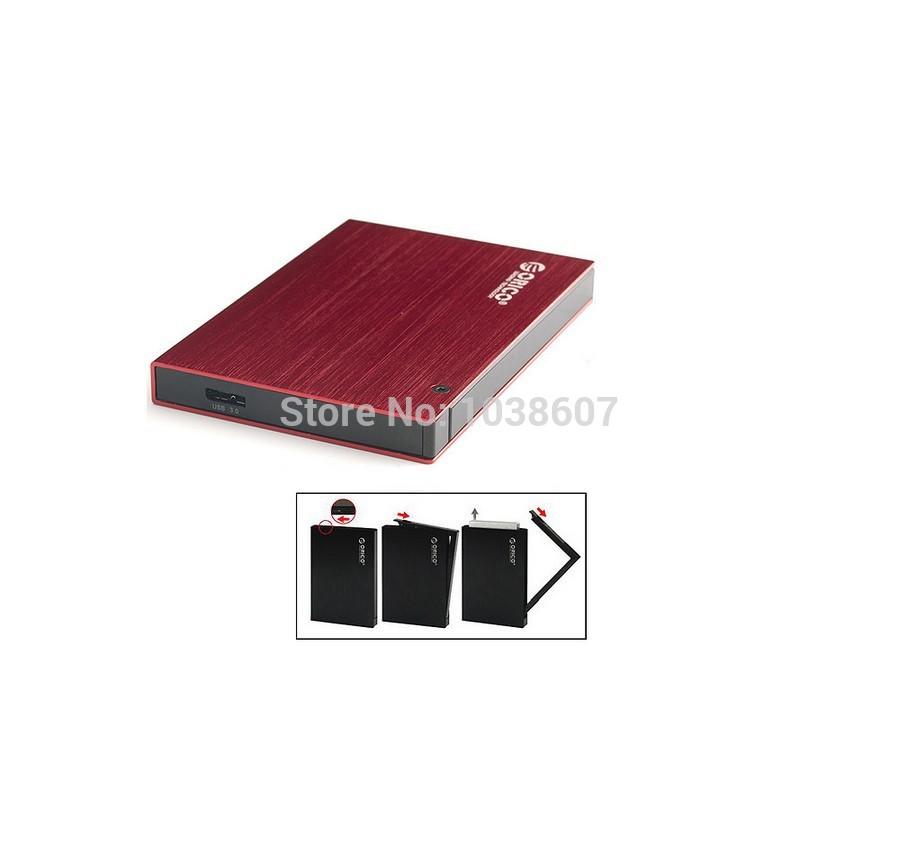 2.5'' External Hard Disk Drive Enclosure Case USB 3.0 for HDD SATA / Aluminum AS Red(China (Mainland))